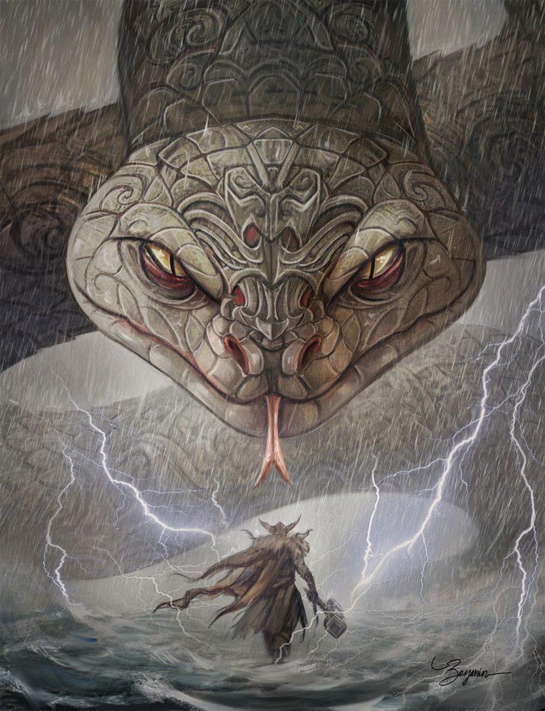 thor ve midgard yılanı
