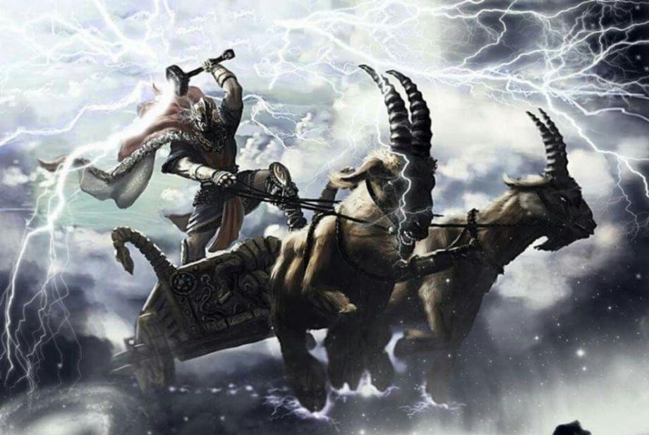 thor yıldırım ve şimşek tanrısı